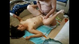 Jap Couple Fuck on Floor
