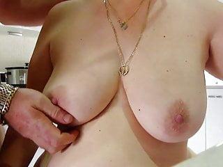 Wifey tit powered by vbulletin - Cum on wifeys big tits then i lick it up