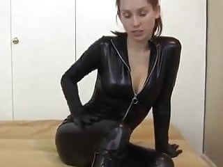Mature ladies in leather catsuits galleries - Leather catsuit black boots