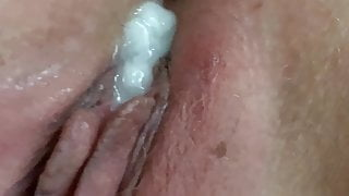Wife has first cuckold creampie