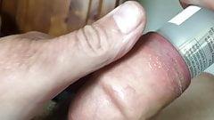 10-minute foreskin video - plastic bottle