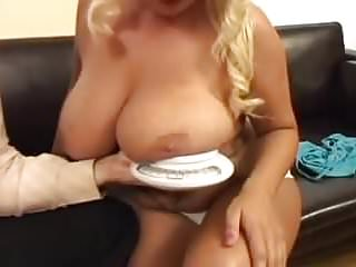 Fucked and hanged - Chintia flowers - huge hanging floppy tits blond fucked