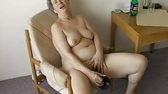 OmaPass Very old Chubby Granma has sex with household goods