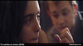 Hafsia Herzi & Sophie Garagnon sexy and romantic movie scene