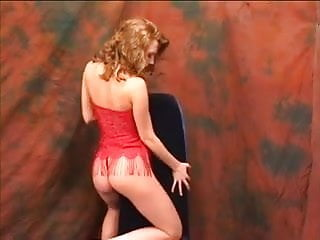 Sexy teddy geiger - Sexy babe in red teddy sucks a pole