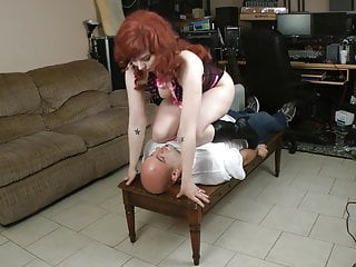 Red head pornstar mc Kinky red head facesitting