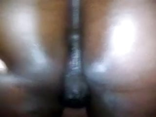 Cum soaked black pussy Pussy soaks the dick, bed and floor