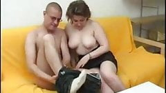 Serious Milf in hot Anal sex with bald guy