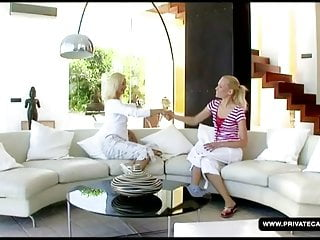 Finger m cunt Jenny m in the private lesbian castings couch