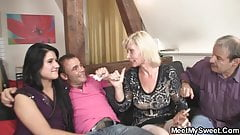 His GF gets involved in a family threesome orgy