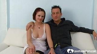 Seductive babe gets a big black cock