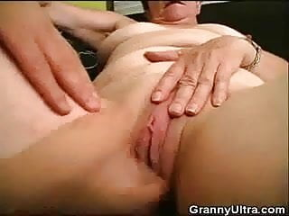 Riding cock on top - Fingered granny rides that cock on top
