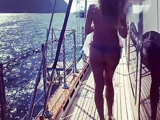 Heid klum and seal penis Heidi klum on a boat from behind