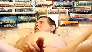 Older men masturbating at home