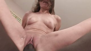 ANAL CREAMPIED: Big Black Cock BBC Cums into Tight Teen Ass