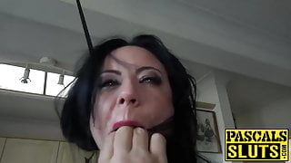 Pretty subslut choked and ass rammed by English master