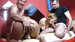 Cum loving swinger wife orgy