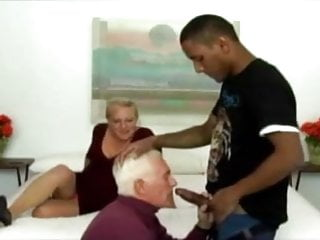 Woman with old man sex - Old man a woman and young black guy
