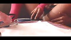 LuAnnA69 caught by voyeur cam while fucking a huge BBC Dildo