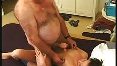 Chubby Hairy Straight dad fucking younger girl