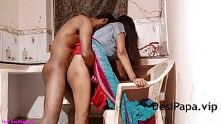 Indian Bhabhi With Her Husband In Kitchen Fucking In Doggystyle
