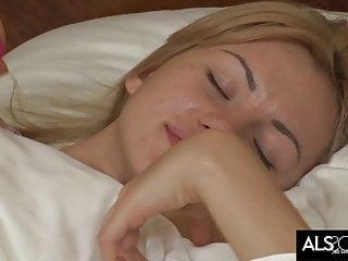 Agnes nude als scan Tiny tits blonde wakes up for anal orgasm with big dildo