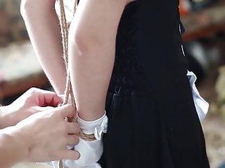 Bondage self tying up Tying art maid