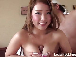 Girls and mature men Japanese shy girl gets shared by two men