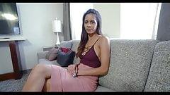 Hot step mom helps injured son thigh job
