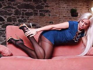 Ashley bulgari sex Hot in pantyhose heels masturbation