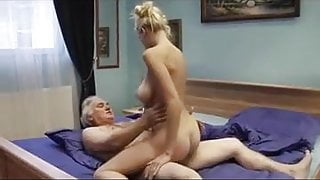 Beautiful young step mom has anal sex with old man