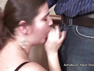 Amateur housewife vids Big natural boobed amateur housewife fucked in her kitchen