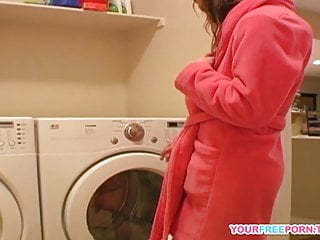 Orgasm on wash machine vid Young diana teasing herself on new washing machine