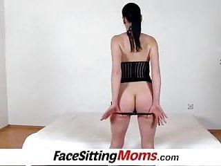 Lady hairy leg High heels legs czech lady renate sitting on a boys face