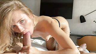 POV hard Spanish dick in small pussy