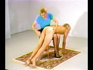 Spanked otk bed - 7 mistresses take turns otk spanking a sub