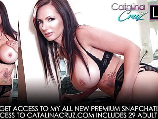 Catalina cruz hardcore clips Catalina cruz oils up her huge breasts and ass masturbating