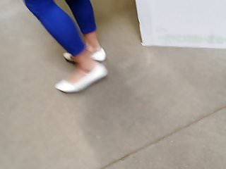 Flat asian women Candid asian in white ballet flats, anklet