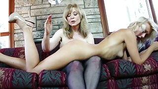 Nina and Natasha are sexy blonde lesbians fucking