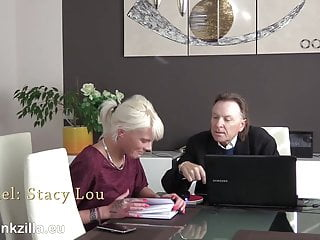 Cum own mout Stacy lou puts the tutor s fountain pen deep in her mout