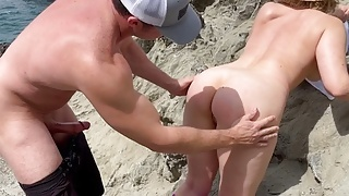 SEX on Exclusive Beach Leads to Fuck Fest at Home!