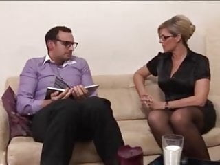 Excited breasts Nerdy guy gets excited by mature woman