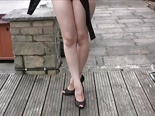 Mistriss spanks thonged ass British girl high leg thong swimsuit- perfect ass nn