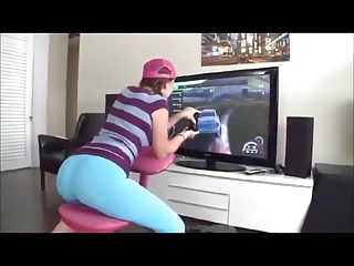 Expoilted teens Lizzie tucker fucked while playing console game