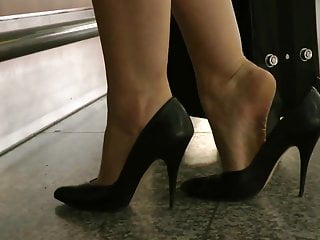 Adult shoeplay - Shoeplay in classic heels compilation