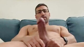 Hot guy with big nose and thick cock