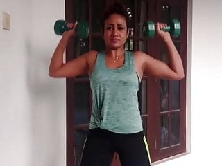 Sexy butt actress Sri lankan actress medha jayarathna sexy workout session