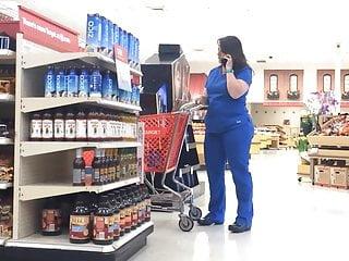 Scrubs show porn Chubby pawg milf in blue scrubs