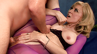 BrokenMILF - Masseuse Nina Hartley Can't Resist A Young Cock
