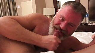 Cute daddy suck cock in hotel